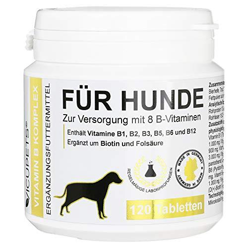 Vicupets Vitamin B Komplex für Hunde | 8 B-Vitamine und Mineralstoffe | für...