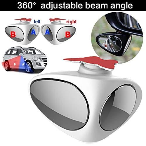 DEtrade 360 ° Verstellbarer 2 in1 Auto Rückspiegel Blindspiegel Seitenspiegel...