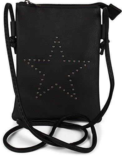 styleBREAKER Mini Bag Umhängetasche mit Nieten in Stern Form, Schultertasche,...
