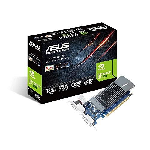 ASUS NVIDIA GeForce GT 710 Silent Grafikkarte (1GB DDR5 Speicher, 0dB Kühlung,...