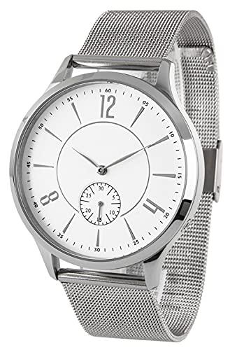 Funk-Armbanduhr, Edelstahl, mit Datumsanzeige