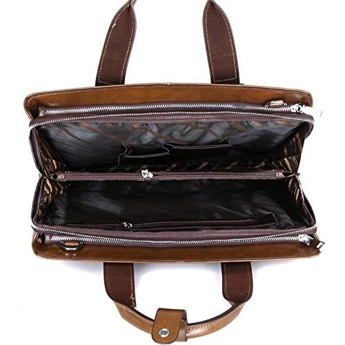 Mens Leder Schultertasche Tasche Männer Schultasche Schultertasche Laptop Bag...