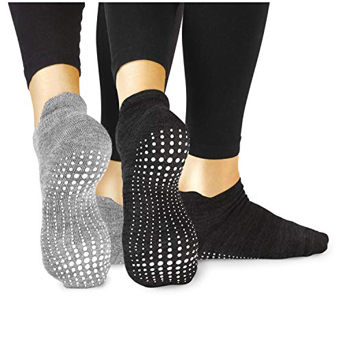 LA Active Grip Socken - 2 Paar - Yoga Pilates Barre Ballet Abs Noppen...