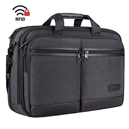 KROSER Laptoptasche Stilvolle Schultertasche Passt bis zu 17,3 Zoll Aktentasche...