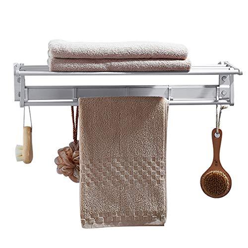 BAIVIT Wandmontierte Handtuchhalter Faltbarer Lagerregal Aluminium Doppelschicht...