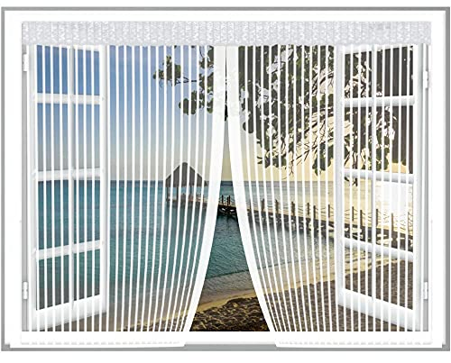 Magnet Fliegengitter Fenster,120x170cm(WxH) Moskitonetz fenster...
