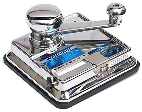 OCB MikrOmatic Duo Zigaretten Stopfmaschine, Chrom, Silber, 15 x 15 x 10 cm