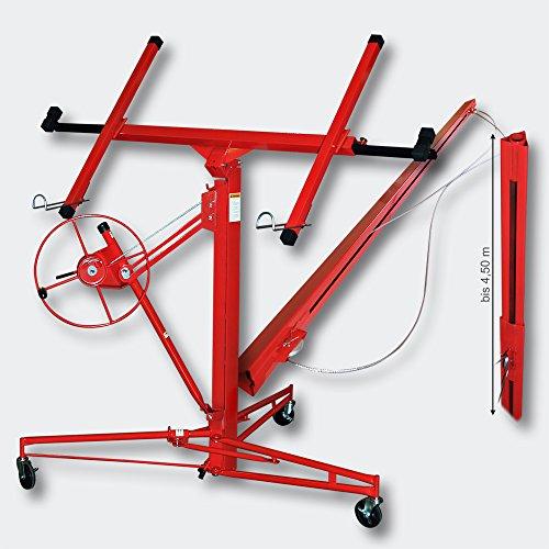 Plattenheber XXL Set Montagehilfe XXL 350 cm + 140 cm Verlängerung bis max 465...