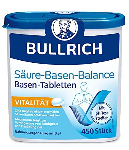 Bullrich Säure-Basen-Balance Basentabletten, inklusive 12 pH-Teststreifen, 450...