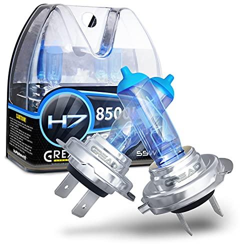 Gread - 2x H7 Halogen Lampen - super-white - 8500k 55W E-Prüfzeichen - Xenon...