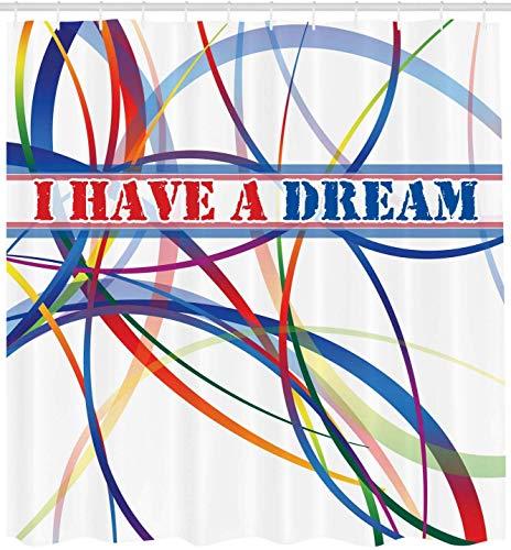 KTTO Lichtmuster Ich Habe einen Traum Polyester Duschvorhang 180X180cm