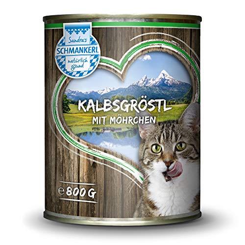 Sandras Schmankerl Nassfutter für Katzen Kalbsgröstl 800g. | getreidefrei |...