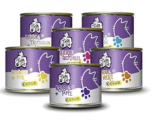 Tasty Cat Nassfutter für Katzen Probierpakerl 6 x 200g. | getreidefrei |...