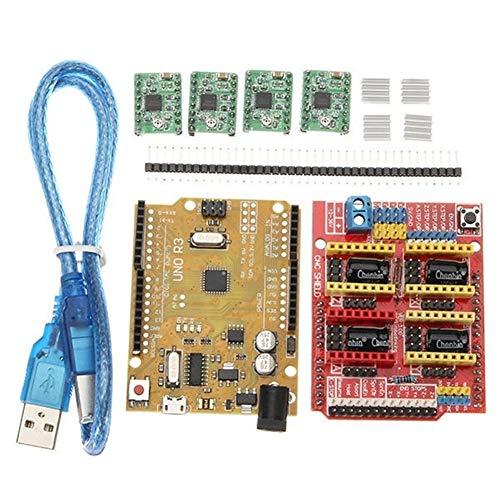Gkjhkjhty Für Arduino 3D-Drucker Shield V3-Erweiterungskarte 4xA4988...