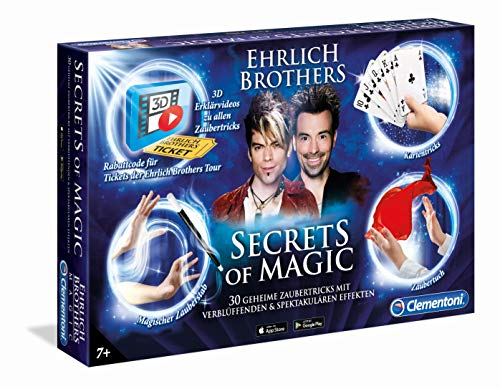 Clementoni 59048 Ehrlich Brothers-Secrets of Magic Zauberkasten, 30 geheime...