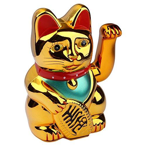 Schramm Winkekatze Gold Meneki Neko Winke Katze Chinesische Glücks Katze...
