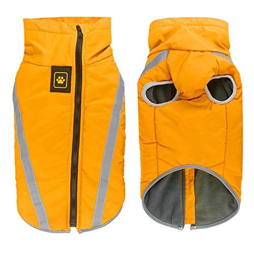 Idepet Wasserdichte Hundemantel Winter warme Jacke, Outdoor-Sport Hund Kleidung...