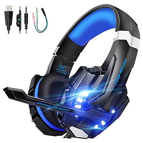 VTAKOL Gaming headset für PS4, 3.5mm Surround Sound Kabelgebundenes Gaming...