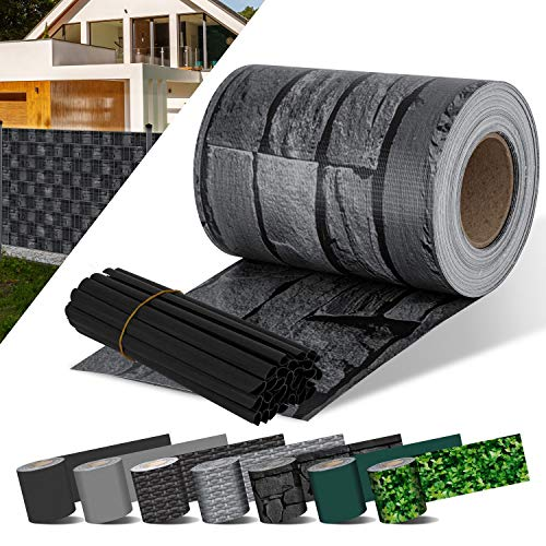 KESSER® PVC Sichtschutzstreifen Sichtschutz Rolle Doppelstabmatten Zaun...