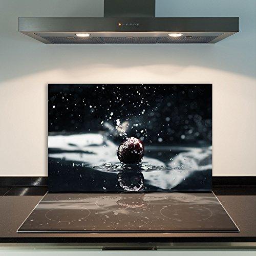 DAMU | Ceranfeldabdeckung 1 Teilig 80x52 cm Herdabdeckplatten aus Glas Obst...