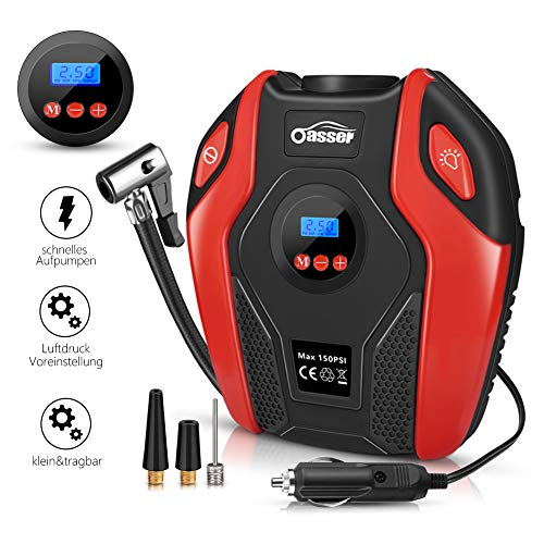 oasser Auto-Luftpumpe Reifen Inflator Kompressor Digital Portable mit LCD...