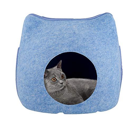 XYBB Haustierbett Katzenbett Bequemes Katzenhaus Haus Haustier Höhle für Katze...