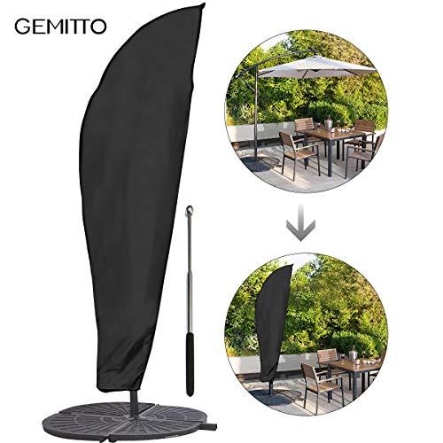 GEMITTO Sonnenschirm Schutzhülle mit Stab, Sonnenschirm Abdeckung 2 bis 4 M...