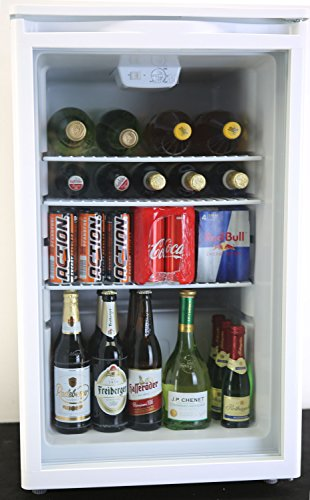 PKM Hausgeräte GKS102 Getränkekühlschrank, weiß