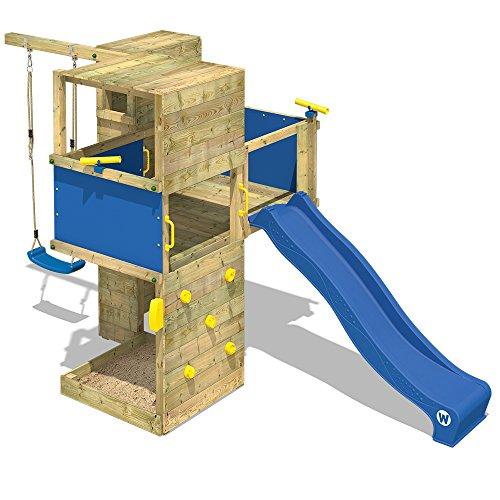 WICKEY Spielturm Smart Cube Kletterturm in modernem Design Spielhaus Holz Garten...