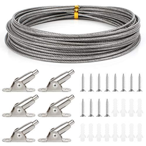 Huayue 1 Set 10 Meter Edelstahl Drahtseil PVC-beschichtetes Stahlseil...