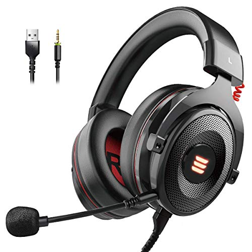 EKSA Gaming Headset PS4/XBox One, Virtual 7.1 & 3,5mm Surround Sound 2 in1...