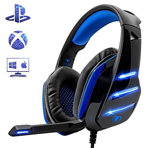 Beexcellent Gaming Headset für PS4, Surround Bass Sound Professional Kopfhörer...