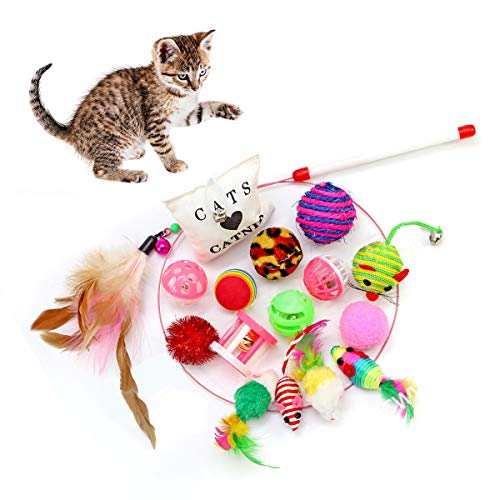 Yesloo Katzenspielzeug, Katze Toys Variety Pack, Spielzeug Set für Katzen...