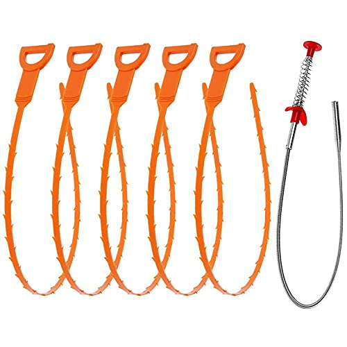 gearelec Abflussreiniger Spirale, Rohrreinigungsspirale Abflussspirale Haarkanal...