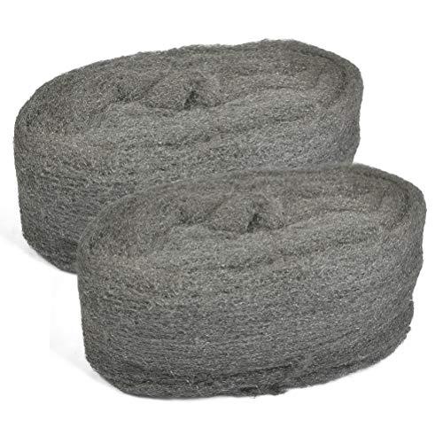 TIMESETL 2Rollen Stahldraht Wolle 0000 Grade Feinreinigung Draht Wolle Pads...
