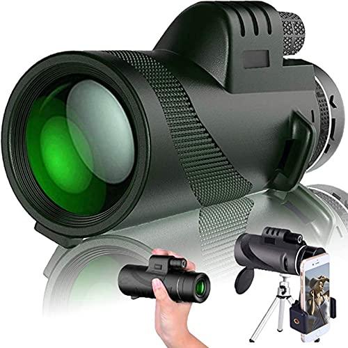 DDSGG Monokulares Teleskop,10X50 High Power HD Monokular Mit Smartphone Halter &...