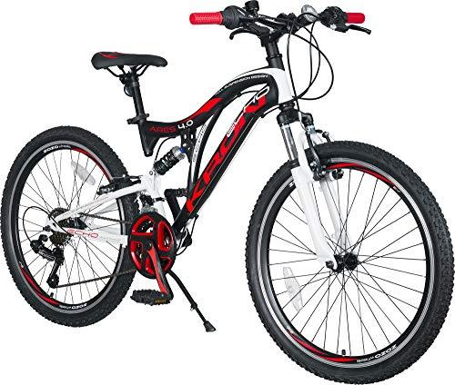 KRON ARES 4.0 Vollgefedertes Kinder Mountainbike 24 Zoll ab 10, 11, 12, 13, 14...