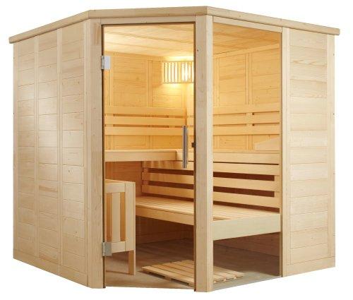 Well Solutions Eck Saunakabine'Aura' 206x206 cm. in Fachhandelsqualität