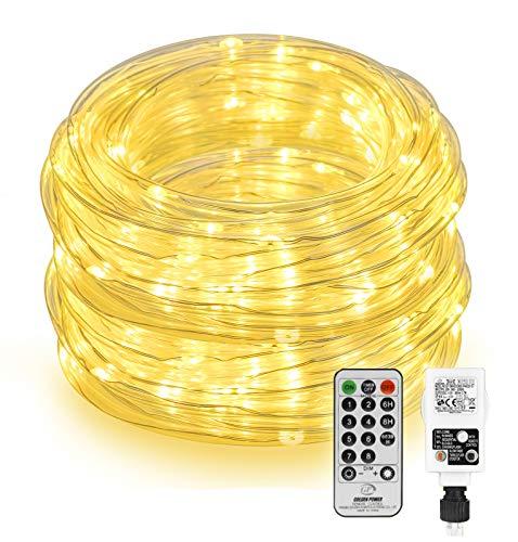 LED Lichtschlauch Außen 20M 200 LED, Othran LED Lichterkette mit Fernbedienung,...
