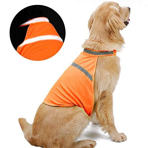 NIBESSER Hunde-Warnweste Hundejacke Reflektierende Hundeweste, reflektierende...