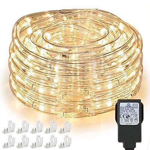 Nurkoo 10m LED Lichtschlauch, 240 LEDs Lichterschlauch IP65 Wasserfest,...