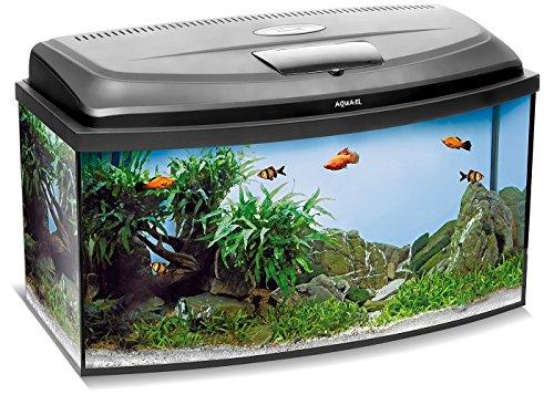 Aquael Aquarium Set Classic LT inkl. Abdeckung, Filter, Heizer, LED Beleuchtung...