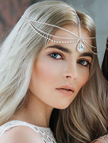 FXmimior Schmuck-Stirnband für Halloween, Hochzeiten, Brautschmuck,...