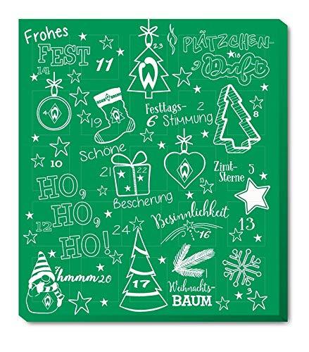 SV Werder Bremen - Adventskalender 2020 - Weihnachtskalender Premium mit Poster...