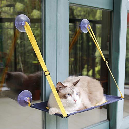 AYADA Katzenbett Hängematte für Fenster, Katzenliege Fensterplatz Cat Hammock...