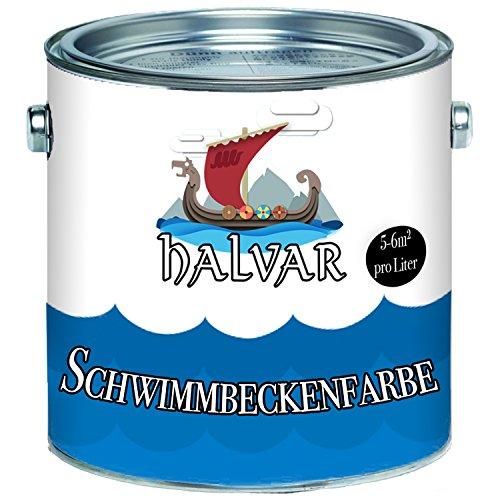 Halvar Schwimmbeckenfarbe skandinavische Poolfarbe Schwimmbadfarbe...