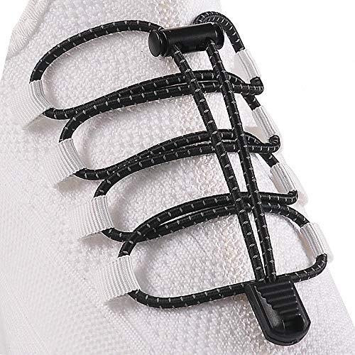 HYFAM Elastische Sport Schnürsenkel, Schnürsenkel mit Schnellverschluss, Keine...