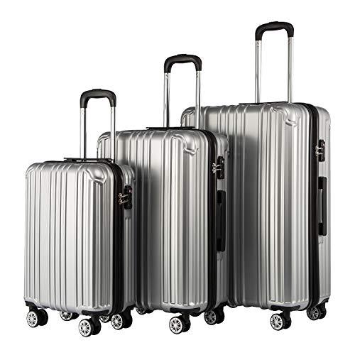 COOLIFE Hartschalen-Koffer Rollkoffer Reisekoffer Vergrößerbares Gepäck (Nur...