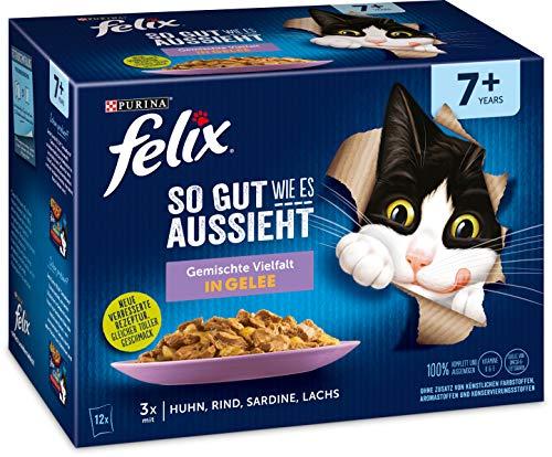 Felix Katzennassfutter So gut wie es aussieht in Gelee Senior Gemischte Vielfal,...