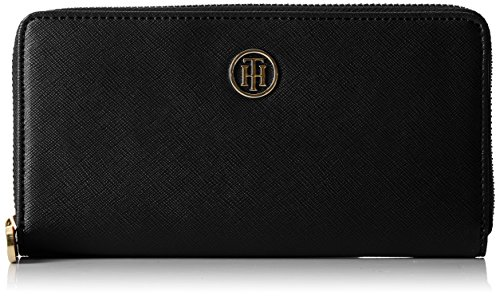 Tommy Hilfiger Damen Honey Large Za Wallet Geldbörse, Schwarz (Black), 2x10x19...